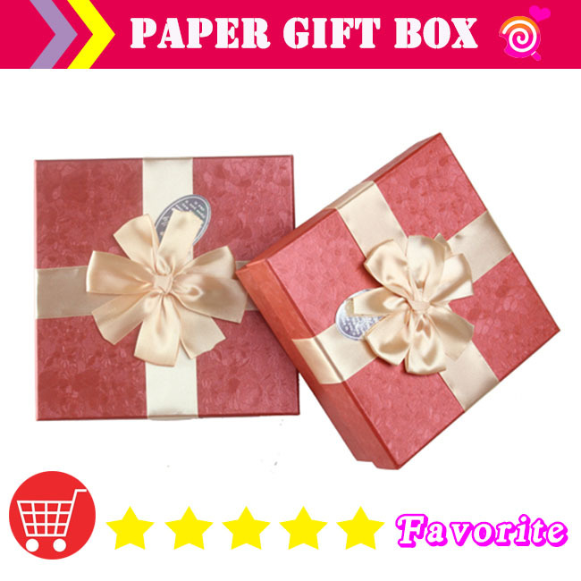2017 new paper gift box mail cartoon boxes Stationery jewelry boxe s Valentines day set ribbon tow luxurly packaging case