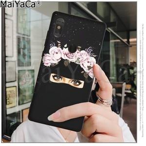 Image 3 - MaiYaCa musulman islamique Gril yeux noir coque souple couverture de téléphone pour Xiaomi Redmi 5 5Plus Note4 4X Note5 6A Mi 6 Mix2 Mix2S