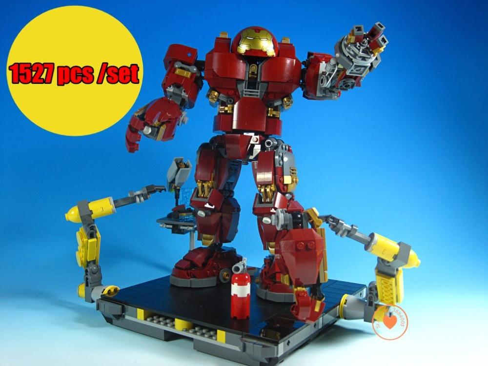 New Super heroe IronMan infinity wars fit legoings avengers hulkbuster Mech figures Thanos Toy Building Bricks Block 76105 gift футболка wearcraft premium slim fit printio avengers