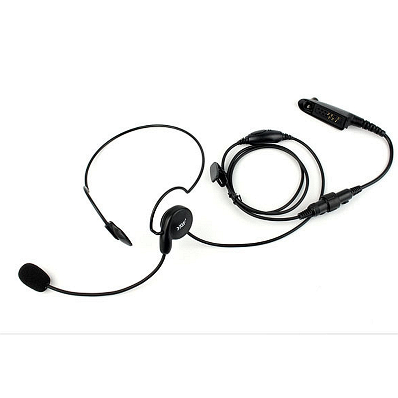 Advanced Unilateral Headphone Mic Neckband Earpiece Cycling Field Tactical Headset For Motorola Walkie Talkie GP328 GP338 GP340