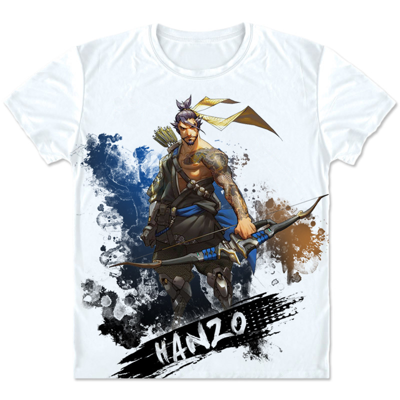 New Game OW Shimada Hanzo Cosplay t shirt Fashion Casual Game Costumes Men/Women Summer Short T shirt Clothings High quality