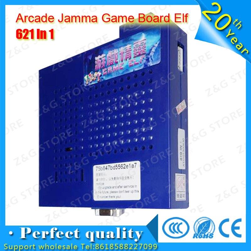 2016 jeux classiques jeu Elf 619 en 1 maintenant mis à jour à 621 en 1 plateau de jeu Jamma PCB pour CGA et VGA Horizontal écran Arcade