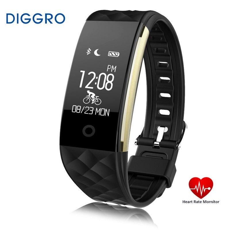imágenes para Diggro s2 bluetooth banda inteligente pulsómetro pulsera smartband pulsera para android ios teléfono pk fitbits ip67 a prueba de agua