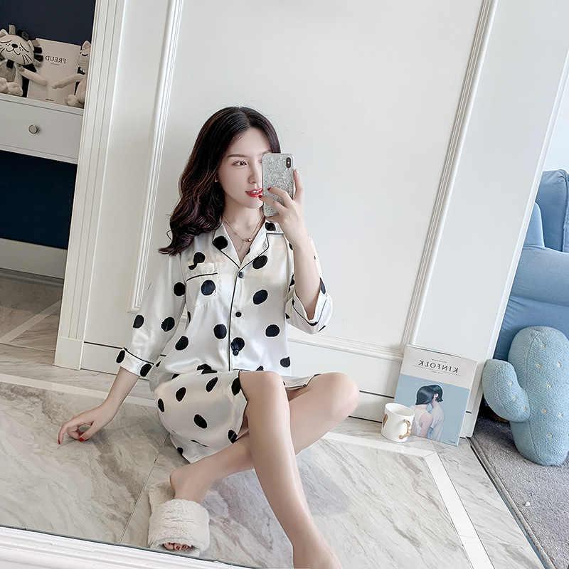 白夏女性の睡眠ローブシャツパジャマパジャマ女性パジャマセクシーな着物バースドレス Sleepshirts M-XL