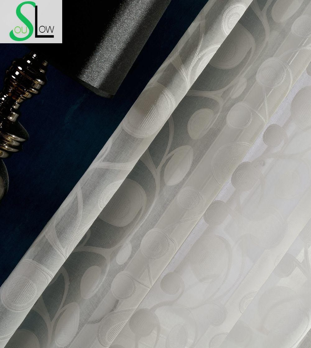 Cotyledon Flower Yarn With Cotton Jacquard Scissored Handle Vertical Sense Curtains For Living Room Cortinas Tulle Sheer Curtain