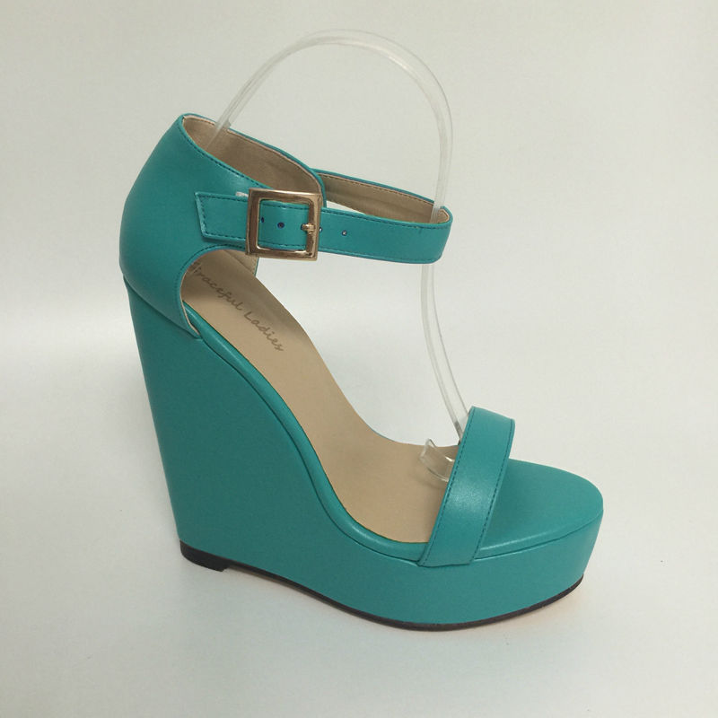 Green Open Toe Wedge Sandals Women Size 13 Heels Open Toe Summer Shoes Sale Platform Ankle Strap High Heels Zapatos De Plataform ankle strap wedge heel shoes for women comfort open toe shoes girls sandals 2016 new summer