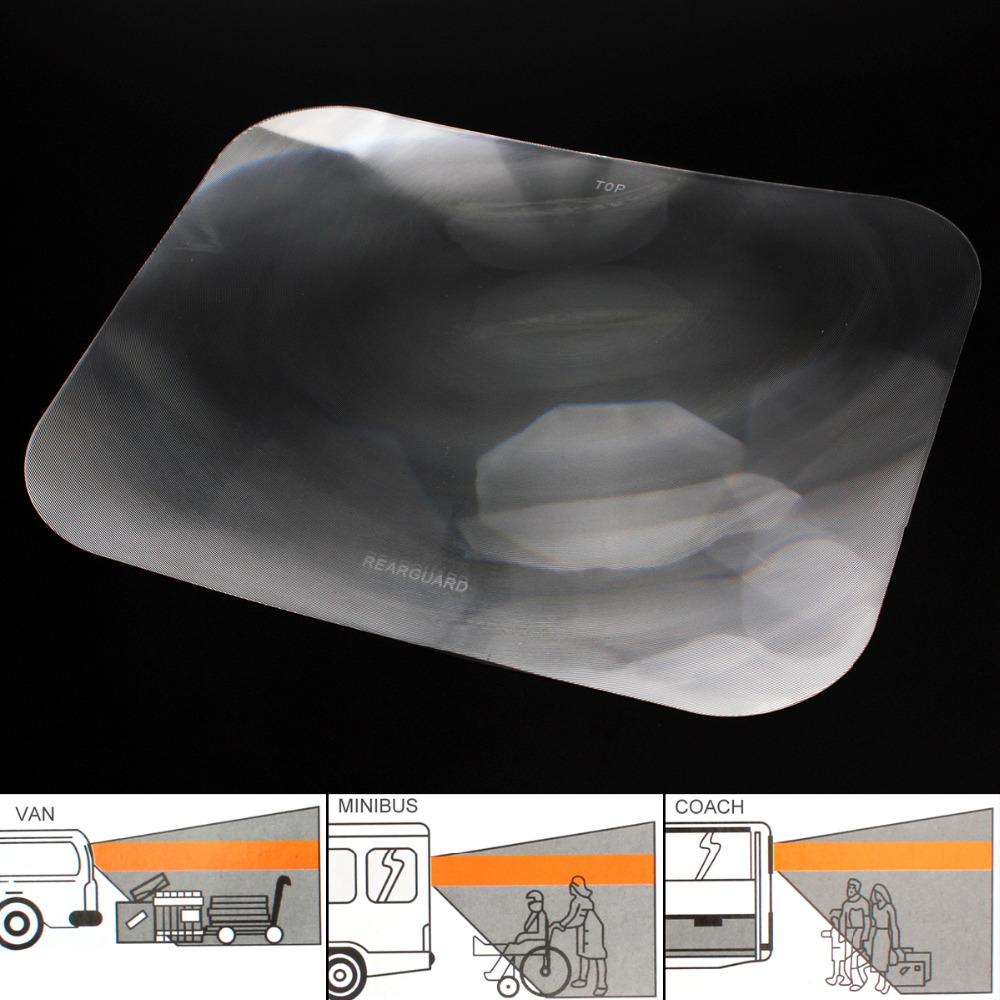 Wide Angle Fresnel Lens Auto Car Parking Reversing Sticker Rear Windshield Useful Enlarge View Angle Optical Fresnel Lens