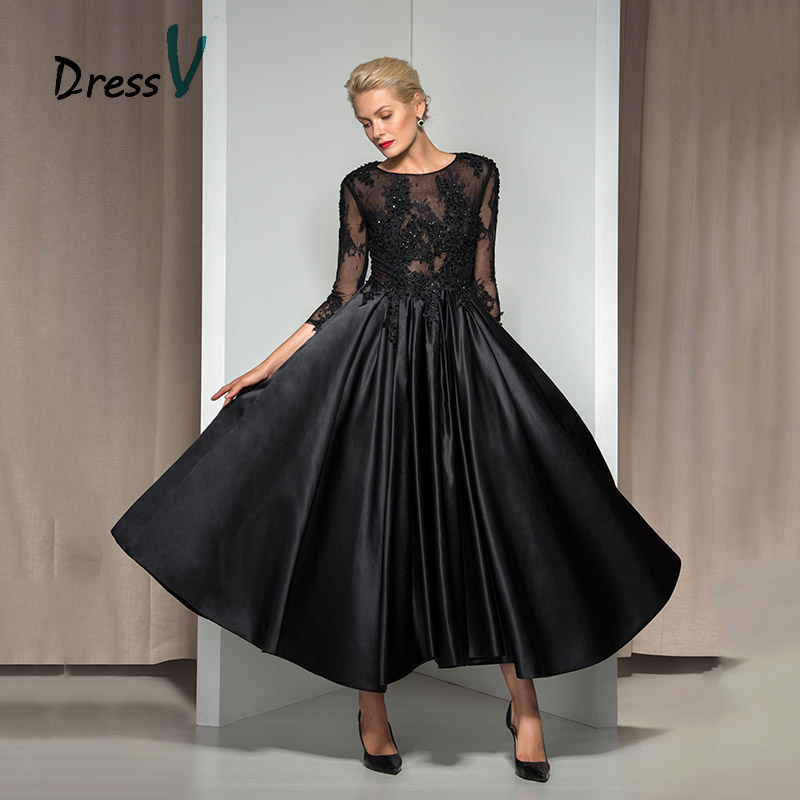 dressv vintage 1960s black evening dress 2017 a line