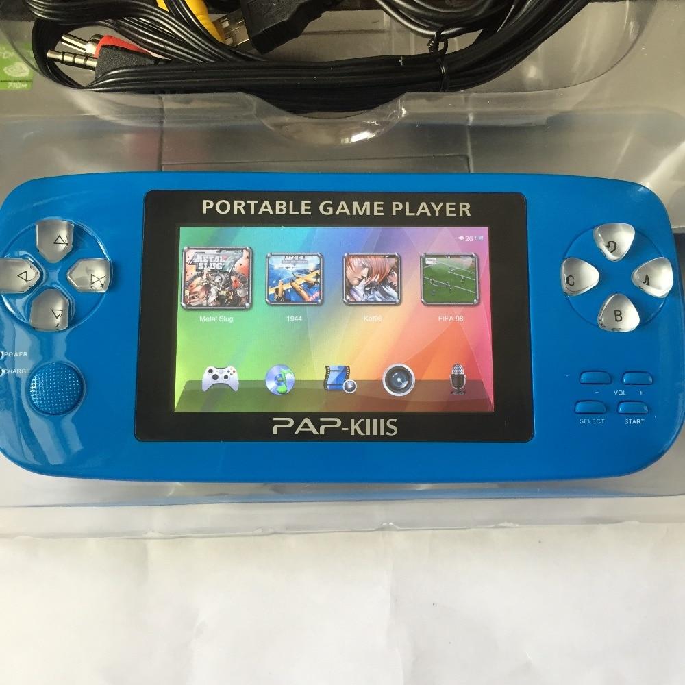 Dual Core 64 Bits 720 HD Lecture MP3, MP4. MP5 PAP K3s Vidéo Console de Jeu avec 600 Jeux, 3.5 178 IPS HD Écran,