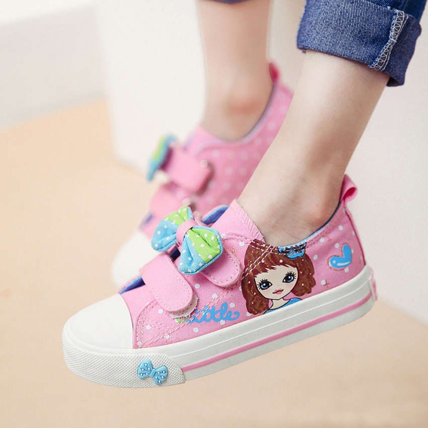 kids girls canvas shoes children girl sneakers shoe size