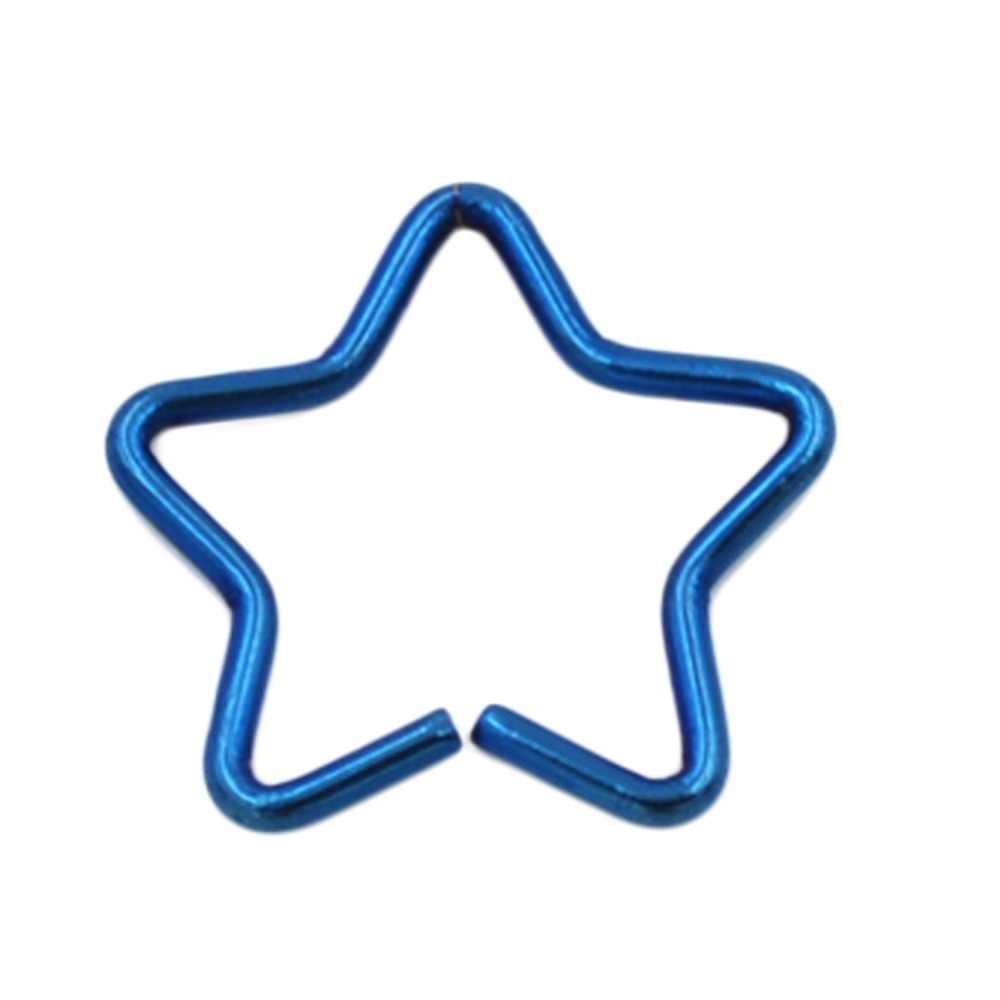 ออกแบบพิเศษที่มีสีสัน Pentagram ต่างหูเหล็กทางการแพทย์จากต่างหูงานแต่งงานเครื่องประดับ