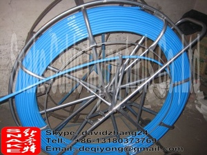 10mm fiberglass push pull rod 200meters with frame cart