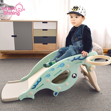 Infant Shining Rocking Horse Slide 2 In 1 Baby Eco-friendly Indoor Toy Multifunctional Slide Toy for Children Gift Anti-skid
