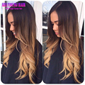 T#1b#4#27 Blonde Ombre Full Lace Human Hair Wigs Virgin Brazilian Hair Glueless Lace Front Wigs For Black Women Ombre U Part Wig