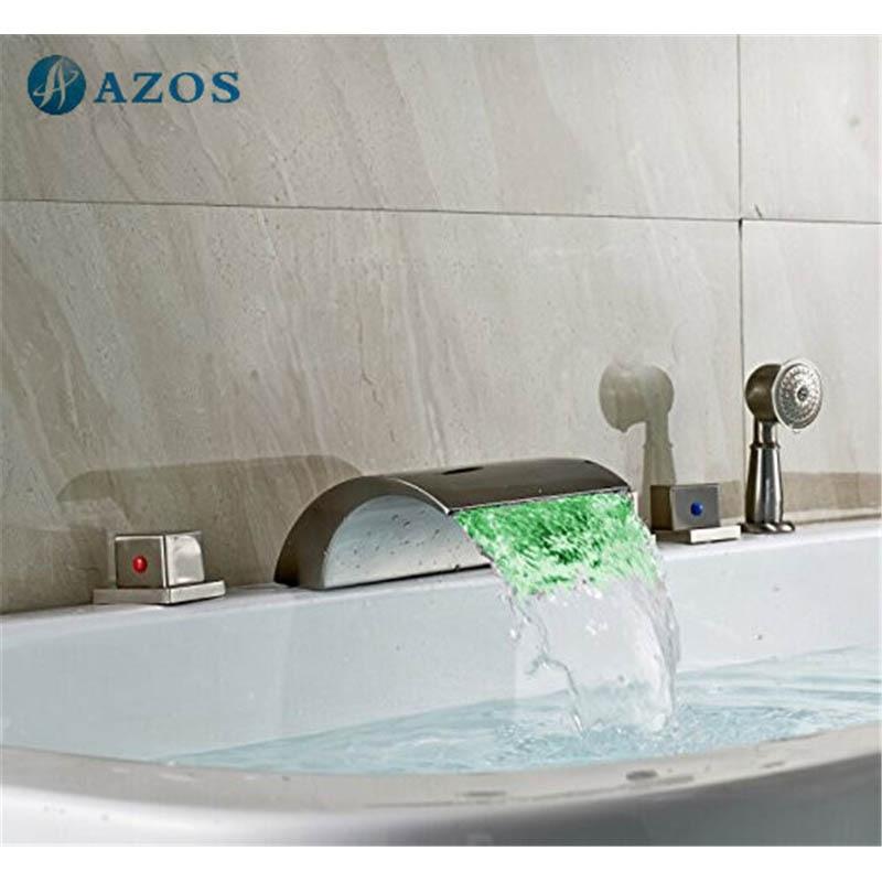 Bathtub Shower Faucets LED Light Nickel Brush Bathroom Suana 5pc Sets  Showerhead Diverter TwoPopular Shower Hose for Bath Taps Buy Cheap Shower Hose for Bath  . Bath Faucet Shower Hose. Home Design Ideas