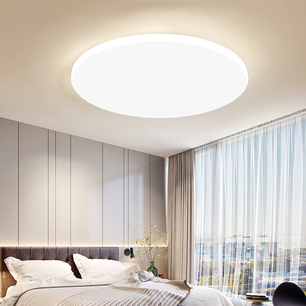 Ceiling Lights & Fans Ultra Thin Led Ceiling Light 15w 20w 30w 50w High Power 220v Round Ceiling Lamp For Living Room Lights Bathroom Home Lighting Beautiful In Colour