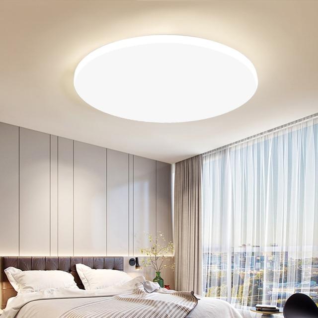 Lampy Sufitowe Led Oświetlenie Nowoczesna Sypialnia Salon Lampa Powierzchnia Montaż Balkon 18w 24w 30w 36w 40w 48w Ac 110v220v Sufit