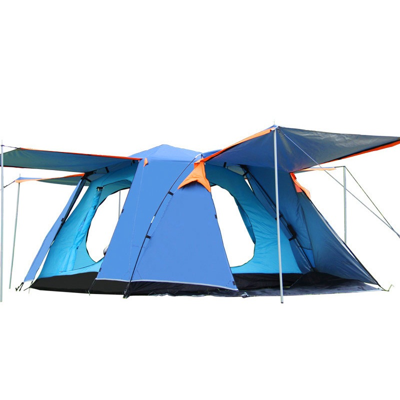 Ultralarge One Bedroom Tent Automatic Hall Four Open Door With Snow Skirt Tent Four Square Top Waterproof Windproof Tent AA12056Ultralarge One Bedroom Tent Automatic Hall Four Open Door With Snow Skirt Tent Four Square Top Waterproof Windproof Tent AA12056