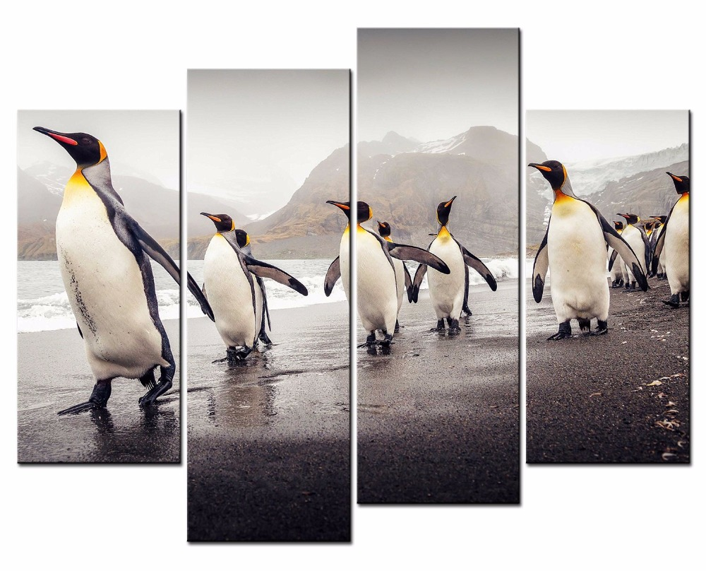 Home, Art, Decor, Printed, Print, Penguin