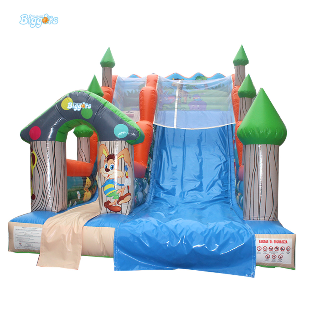 Best Sellers Factory Sale Various Widely Used Inflatable Slide With Bouncy House commercial sea inflatable blue water slide with pool and arch for kids