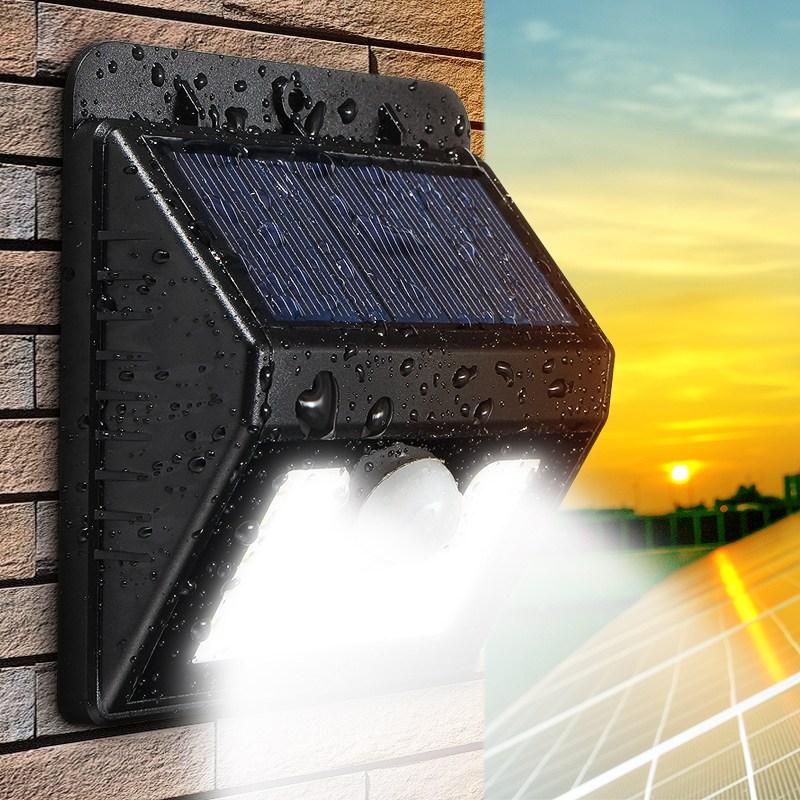 Mising LED Solar Power Light PIR Motion Sensor Wall Light Outdoor Waterproof Energy Street Path Home Garden Security Lamp
