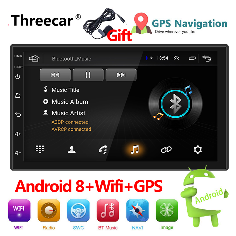 2 Din 7'' Touch screen GPS Bluetooth FM WIFI auto audio player stereo 2din Car Radio Android multimedia player Autoradio