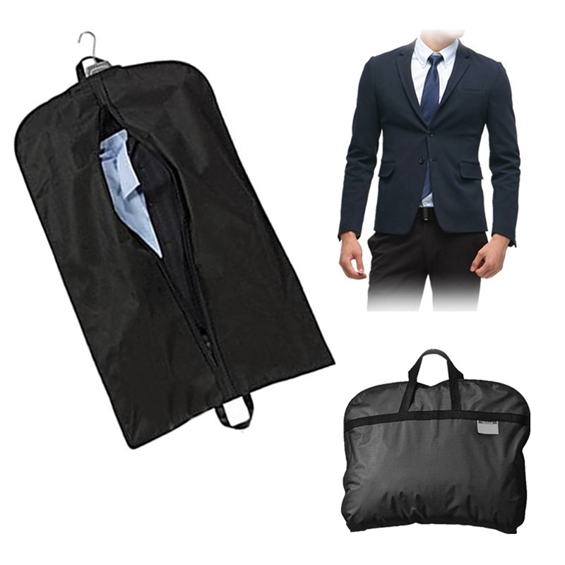 81754eba9d0f Dustproof Hanger Storage Protector Travel Storage Organizer Case Black Coat  Clothes Garment Suit Cover Bags
