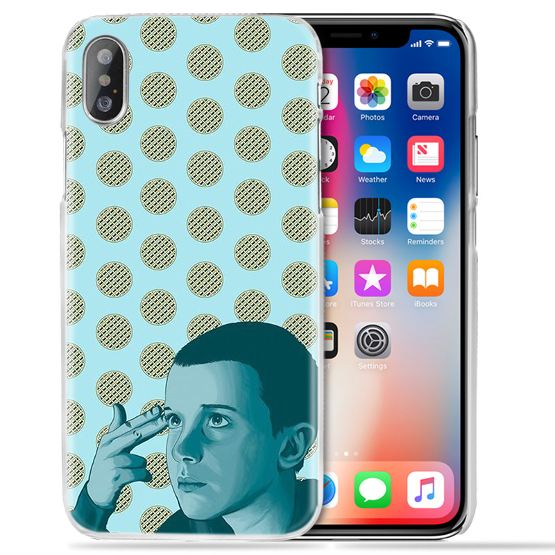 Case for iPhone XS Max XR X 10 7 7S 8 6 6S Plus 5S SE 5 4S 4 5C Clear Hard PC Fundas Capa Coque Phone Cover Stranger Things Flim in Half wrapped Cases from Cellphones Telecommunications