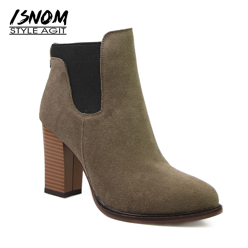 Leisure Slip On Ankle Boots New Arrival Winter Rubber Boots Elastic Band Women s High Thick