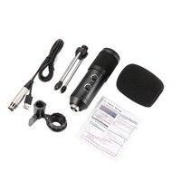 USB Microfono MK-F600TL студии Condensatore Professionale Microfono con каво Con Il Basamento в караоке