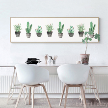 Nordic simple Cactus Potted Poster Banner Canvas Painting Art Print Wall Picture Paintings Bedroom Decor