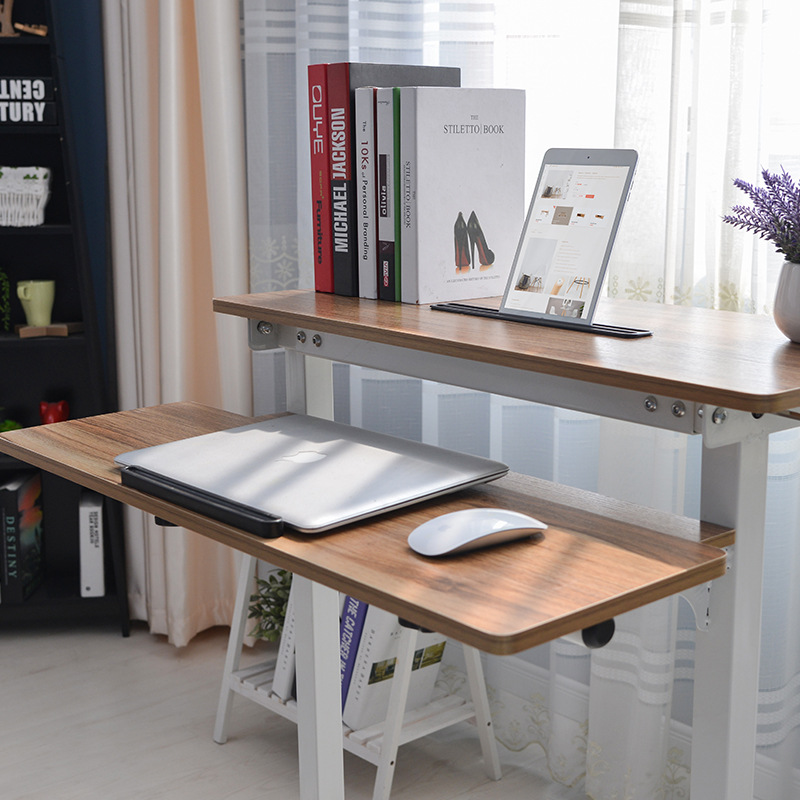 height adjustable sit stand desk with heavy duty steel frame office