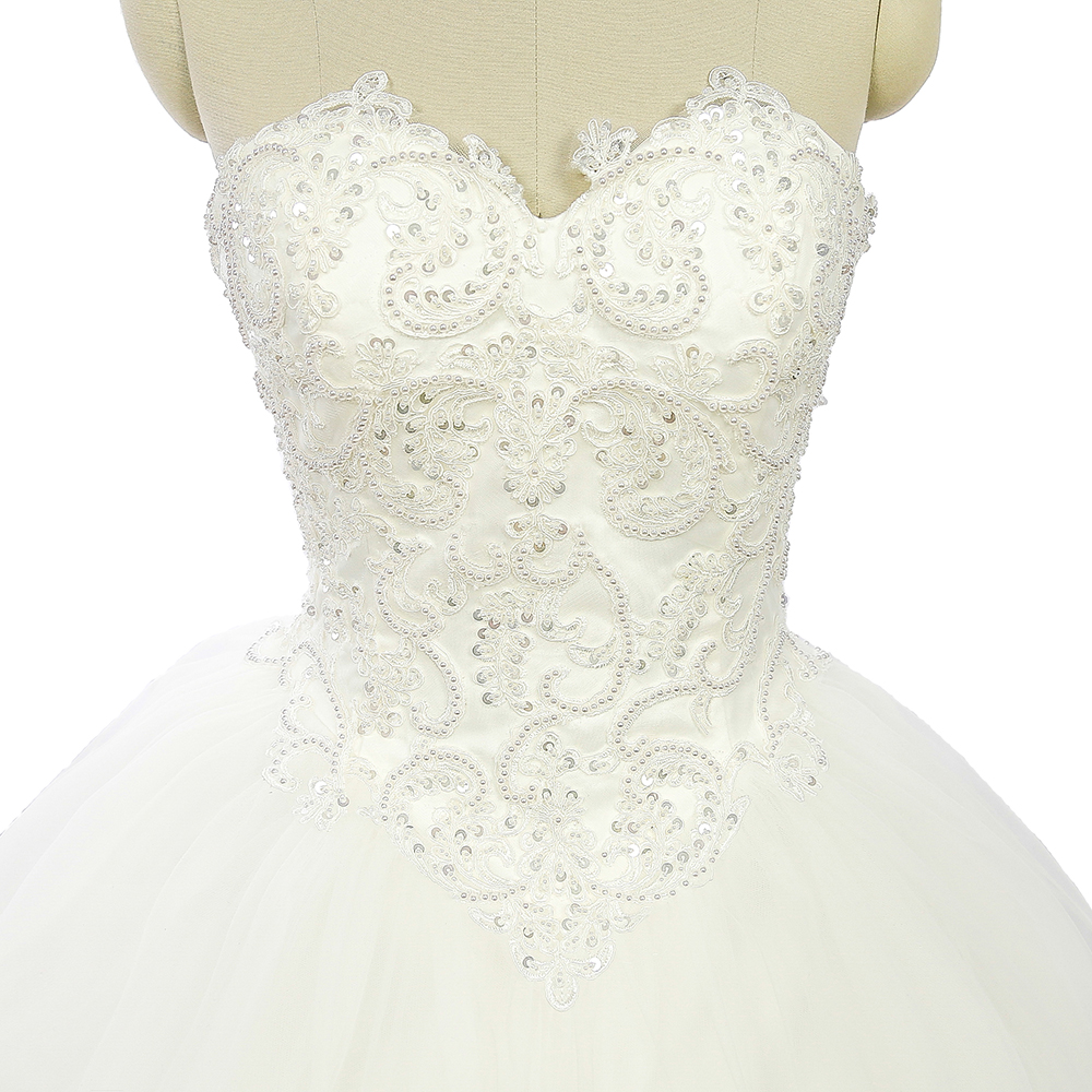 White African Princess Wedding Dresses Lace Sweetheart Tulle Arab