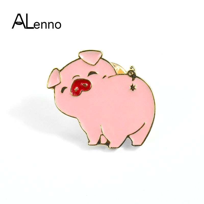 The Cheapest Price Lovely Cute Cartoon Collection Pins Fashion Tv Series Waddles Pink Pig Peppa Enamel Brooch Badge Brooch For Girl Women Gift Jewelry Sets & More