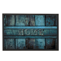 Vintage Home Doormat Outdoor,Stripe Door Mat for Entrance Door,Rubber Floor Mats for Bathroom,Kitchen Carpet,Blue Kids Room Rug