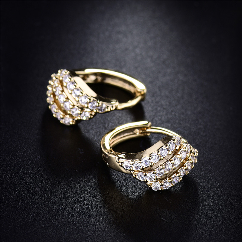 BUDONG Valentine's Day Gift Three Row Fashion Earing for Women - Fashion Jewelry - Photo 5