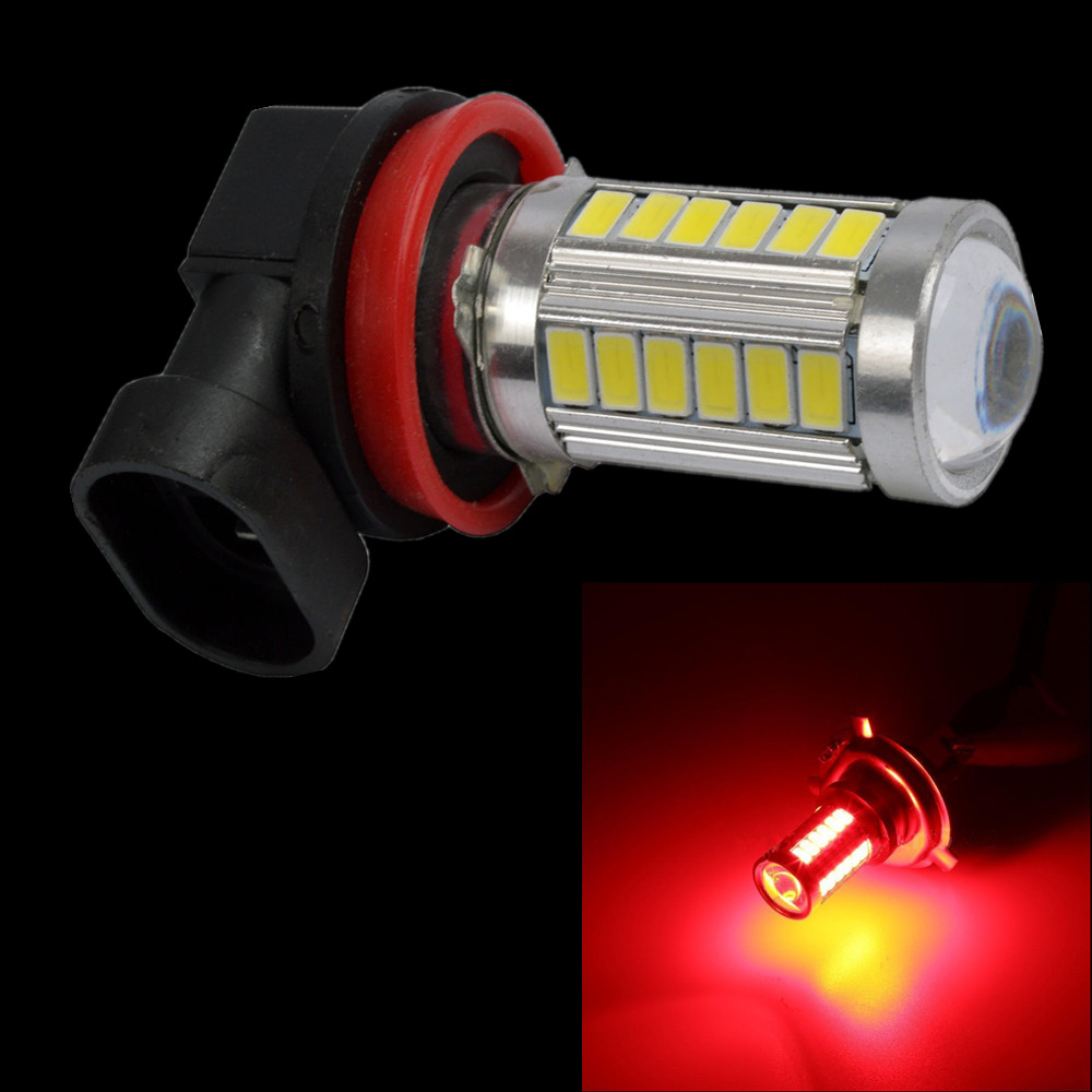 12V DC 24V H11 H8 5630 33 SMD 33-LED Fog Light DRL Driving Bulb Truck Red perfectolight 24 0005 светильник настольный девочка h 33 24