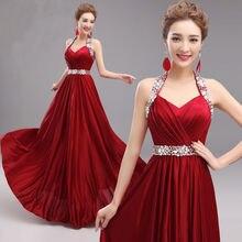 Echt Foto Langen Abendkleid Kleid Kristall Formale Abendkleider