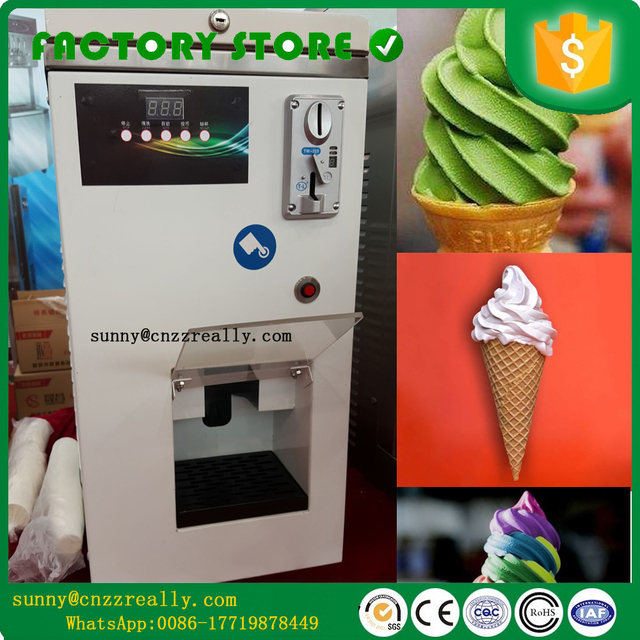 cnf stainless steel ice cream vending machine automatic coins model