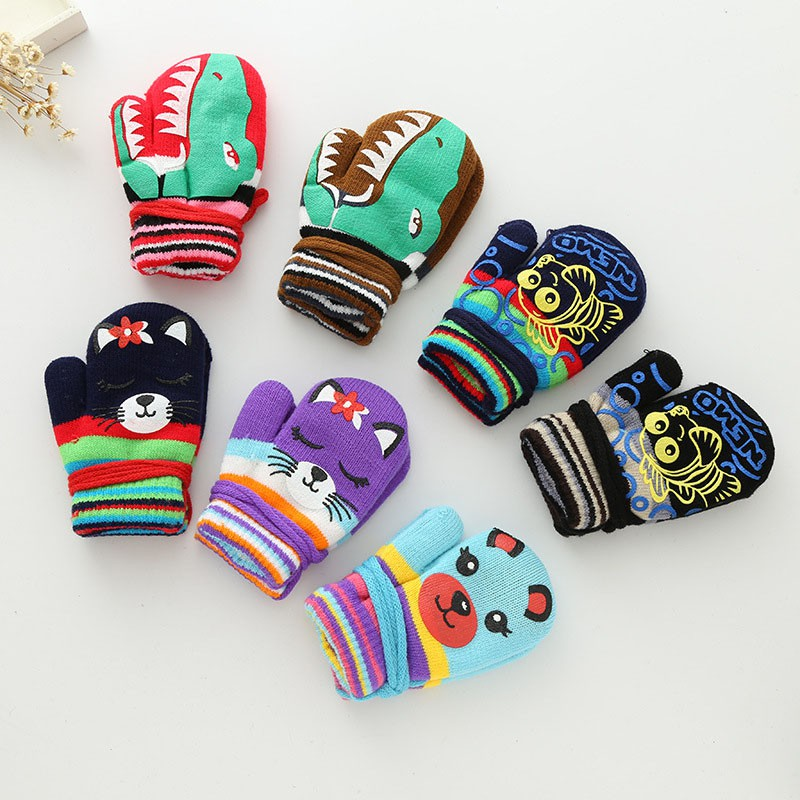 2018new Boy And Girl Lovely Cartoon Rabbit Mittens Winter Warm Thick Cashmere Suede Leather Boy/girls Outdoor Sports Ski Glove Fragrant Aroma Apparel Accessories