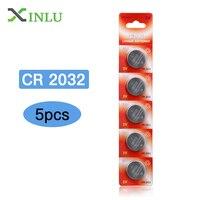 5 teile/los CR2032 DL2032 ECR2032 CR 2032 2032 CR-2032 3 V Lithium-knopfzelle Münze Batterie für uhr