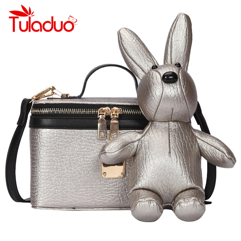 Rabbit Women Crossbody Messenger Bags Women's Shoulder Bag Leather 2018 Luxury Female Handbag Women Bags Designer bolsa feminina kmffly red thread women shoulder bags designer pu leather messenger bags female luxury casual flap crossbody bags bolsa feminina