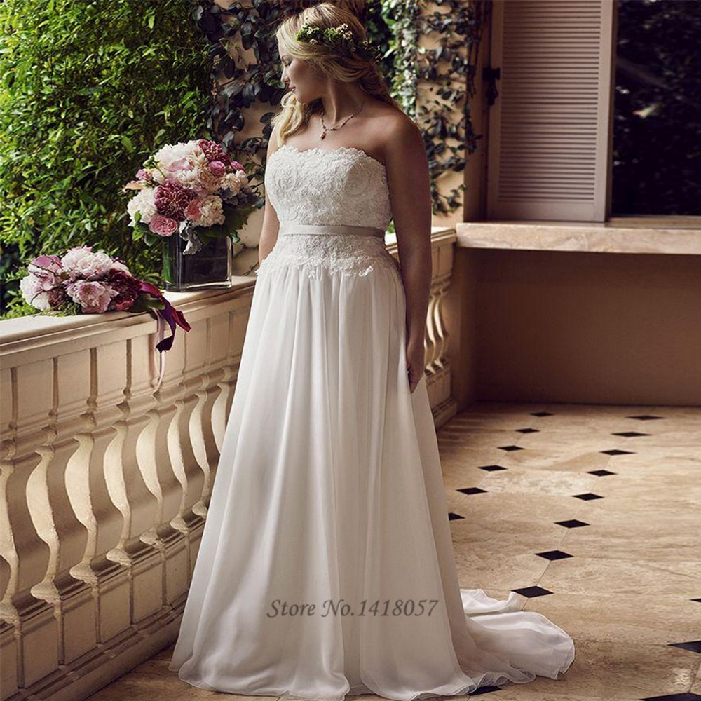 Cheap Wedding Dress Plus Size Made in China Wedding Gowns Lace Bride Dresses 2017 Sweetheart Custom Made Sash Vestidos de Noiva