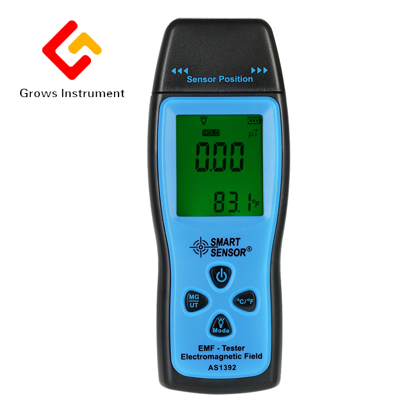 Handheld Digital LCD radiation dosimeter Mini EMF Tester Electromagnetic Field Radiation Detector Dosimeter Tester AS1392 sphe1002at u h