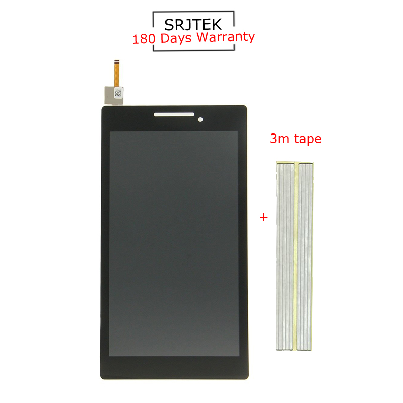 For New Lenovo Tab 2 A7-10 A7-10F A7-20 A7-20 Replacement LCD Display Touch Screen Digitizer Glass Assembly for lenovo tab 2 a7 30 a7 30hc 2nd touch screen digitizer glass lcd display monitor assembly free shipping