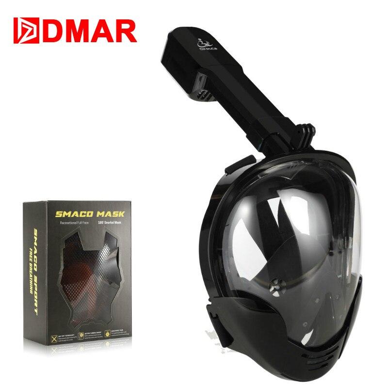 Masque de plongée 2019 date sous-marine Anti-buée panoramique pli complet masque de plongée masque de natation masque de plongée en apnée lunettes de plongée
