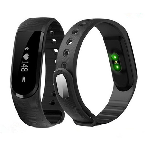 2017 new product ID101 smart bracelet heart rate monitor wristband bluetooth touch oled screen wristband pedometer