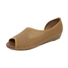 Tangnest/летние женские босоножки на танкетке с вырезами обувь на низком каблуке повседневные шлепанцы на танкетке с открытым носком сандалии без застежки XWZ5886