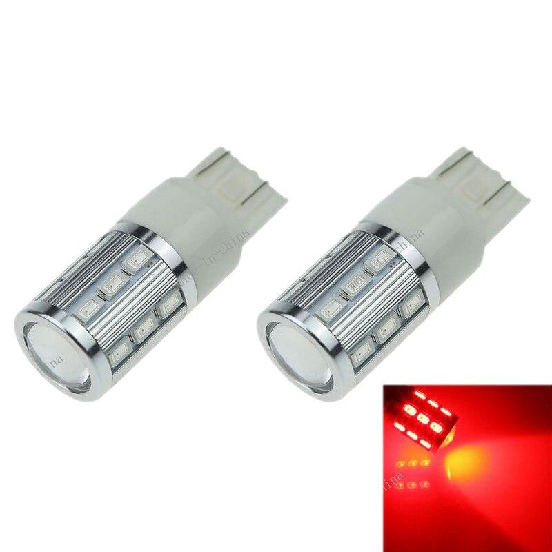 2X Red T20 7443 7440 18 5630 1 Cree Q5 LED Car Blub Turn Sig Light
