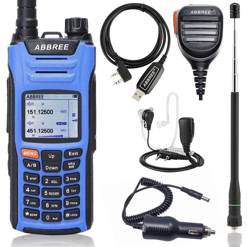 ABBREE AR F6 Walkie Talkie Multi Band Multi functional VHF UHF DTMF 999CH VOX DTMF SOS